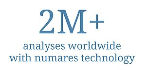 Million analyses worldwide using numares technology